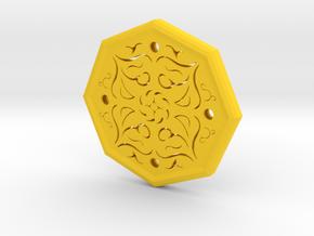 Octagon Rune Amulet in Yellow Processed Versatile Plastic