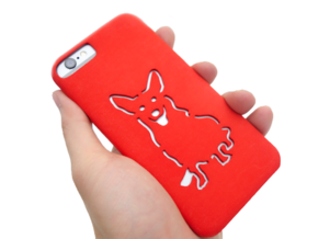 Corgi Iphone 6 Case  in Red Strong & Flexible Polished