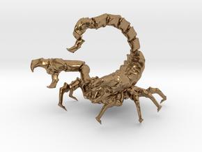 Skorpion in Natural Brass