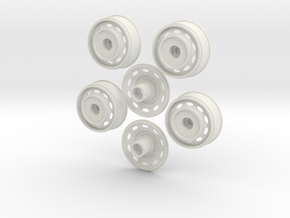 1/16 OVAL WHEELS in White Natural Versatile Plastic