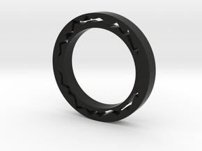 Streak Of Lightning Ring in Black Natural Versatile Plastic
