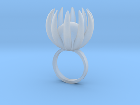 Blooming Ring size UK 0 in Smooth Fine Detail Plastic