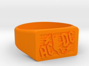 Size 13 TNT Ring  in Orange Processed Versatile Plastic