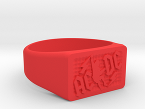 Size 10 TNT Ring  in Red Processed Versatile Plastic