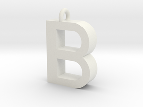 Alphabet (B) in White Natural Versatile Plastic