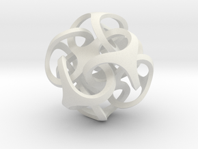 Metatron's Cube 10x10*10 cm in White Natural Versatile Plastic