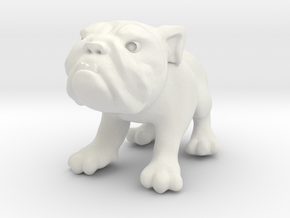 Bulldog - Toys in White Strong & Flexible