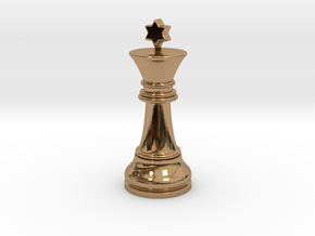 Single Chess King Star Big | Timur Prince Vizir in Polished Brass