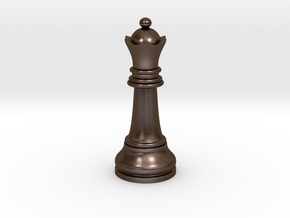 Single Chess Queen Big Standard | Timur Vizir in Polished Bronze Steel