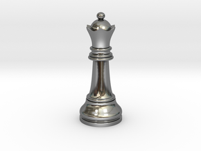 Single Chess Queen Big Standard | Timur Vizir in Fine Detail Polished Silver