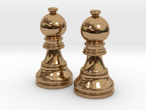 Pair Bishop Chess Big | Timur Picket Taliah in Polished Brass