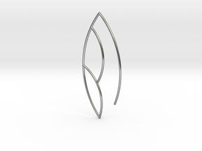 Leaf Earring in Polished Silver