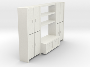 A 002 living wall Schrank cupboard HO 1:87 in White Natural Versatile Plastic