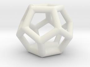Dodis_earring in White Natural Versatile Plastic