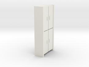 A 005 Schrank cupboard HO 1:87 in White Natural Versatile Plastic