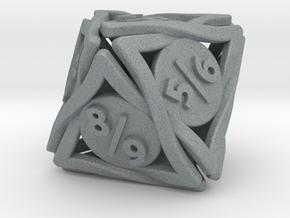 Large 'Twined' Dice D8 Spindown Tarmogoyf P/T Die in Polished Metallic Plastic