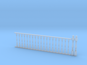 Railing w/ Balustrade 1:48 in Smooth Fine Detail Plastic