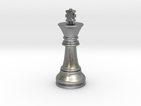 Single King Chess Cross Normal Big | TImur King in Natural Silver