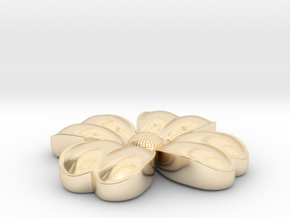 Flower coulomb in 14k Gold Plated Brass