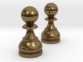 Pair Pawn Chess / Timur Pawn of Pawns in Polished Bronze