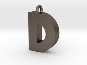 Alphabet (D) in Polished Bronzed Silver Steel