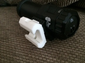 Call Of Duty Ghosts Camera Picatinny Mount in White Natural Versatile Plastic