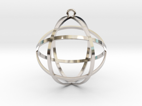 "Genesa Crystal 1.5"" in Platinum"