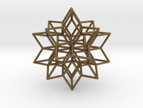 Rhombic star earring in Natural Bronze