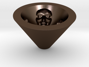 Face Bowl With Color in Polished Bronze Steel