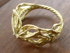 Ring Nouveau01 V02 in Natural Brass