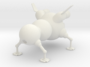 Starbug in White Natural Versatile Plastic
