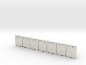 HO scale(1:87) PostBoxes Version 02 in White Natural Versatile Plastic