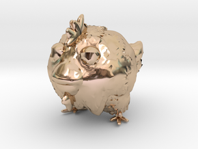chicken toy in 14k Rose Gold Plated Brass