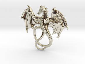 Dragon Pendant in 14k White Gold