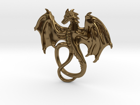 Dragon Pendant in Polished Bronze