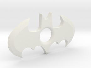 Throw-able Batman Logo (sharp) in White Natural Versatile Plastic