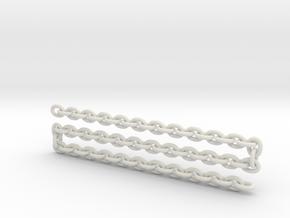 Scale log chain  in White Natural Versatile Plastic