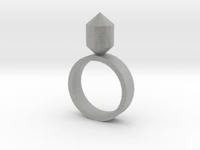 Single Gem Ring in Metallic Plastic