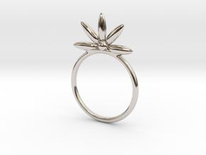 Flower Stacking Ring in Platinum