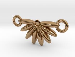 Demi Flower Pendant  in Polished Brass