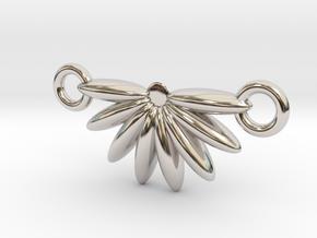 Demi Flower Pendant  in Platinum