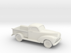 1/87 1940 Willys Overland 1/2 Ton Truck in White Natural Versatile Plastic