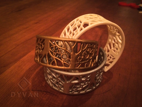 Tree of Life Bracelet 55mm in White Natural Versatile Plastic