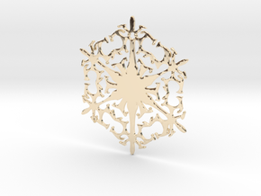 Snowflake Crystal in 14k Gold Plated Brass
