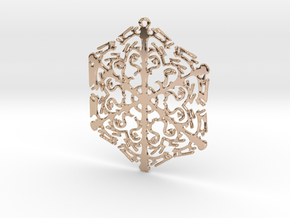 Snowflake Crystal in 14k Rose Gold Plated Brass