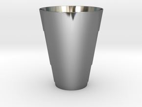 Gold Beer Pong Cup in Fine Detail Polished Silver