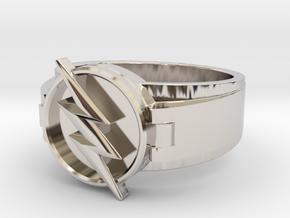 V2 Reverse Flash Ring size 8.5 18.5mm in Platinum