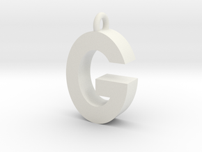 Alphabet (G) in White Natural Versatile Plastic