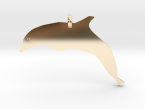 Dolphin Necklace Piece in 14K Yellow Gold