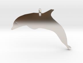 Dolphin Necklace Piece in Platinum